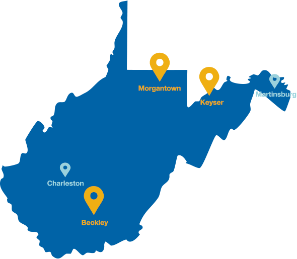WVU Campus System Map